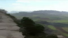 Live Painting. Аerial mountain. Mount Tabor Stock Footage