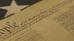 Stock Video Footage of United States Bill of Rights Preamble to the Constitution