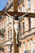 Monument of Jesus crucifixion Stock Photos