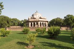 Isa Khan Tomb Enclosure, Delhi, India - stock photo