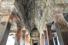 Gallery way at the Angkor Thom - stock photo