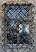 Abandoned old window - stock photo