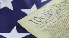 United States Bill of Rights Preamble to the Constitution - stock footage