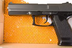 Air gun and pellets Stock Photos