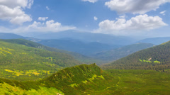 green mountains - stock footage