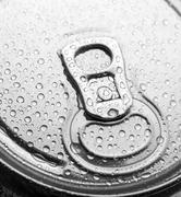 Aluminum can with water drops Stock Photos