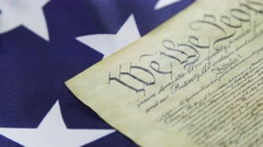 4k United States Bill of Rights Preamble to the Constitution - stock footage