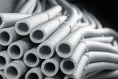 Insulation for pipes - stock photo