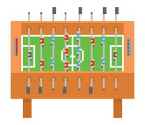 Stock Illustration of Table soccer pixel art vector illustration. kicker, bar football