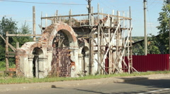 Stock Video Footage of the restoration of a historic building