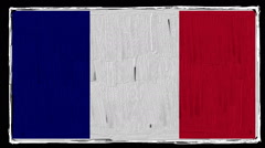 Flag of France Stock Footage