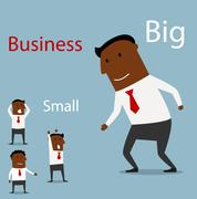 Partnership between big and small business Stock Illustration