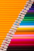 Color pencils background. close up of pencil color - stock photo