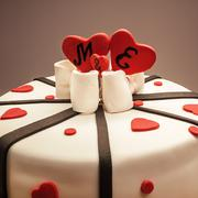 Stock Photo of Decoration of an Anniversary Cake