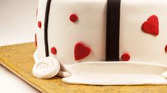 Decoration of an Anniversary Cake Stock Photos