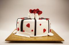 Decoration of an Anniversary Cake - stock photo