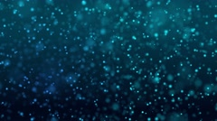 Dust particles bokeh background blue Stock Footage