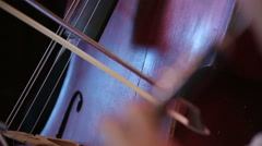 Musicians playing cello and oboe Stock Footage