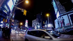 Toronto Yonge Street Dundas Square Winter Stock Footage