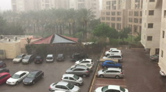 Rain in Ramat Aviv Stock Footage