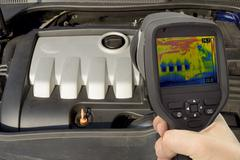 Engine Thermal Image - stock photo