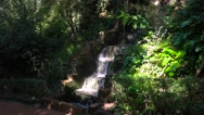 Stock Video Footage of Waterfall outside the Alhambra palace in Granada, Spain.