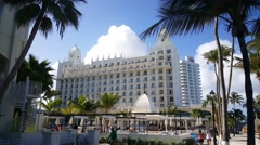 Riu Palace on Aruba Stock Footage