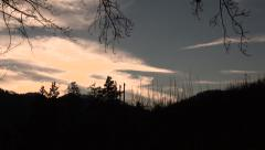 Time Lape: Country Sunset Stock Footage