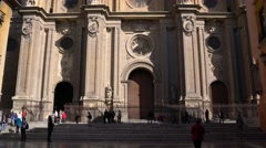 "Granada Cathedral or ""Cathedral of the Incarnation"", Granada, Spain. Stock Footage"