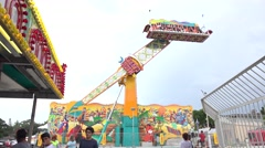 Pendulum Carnival Ride Stock Footage