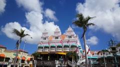 Stock Video Footage of Colorful Royal Plaza Mall in Oranjestad Aruba