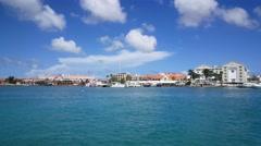 Stock Video Footage of Oranjestad skyline on Aruba