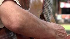 Acoustic Guitar Strings Stock Footage