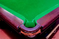 pit of corrner table snooker - stock photo