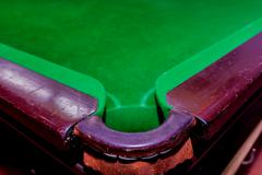 Pit of corrner table snooker Stock Photos