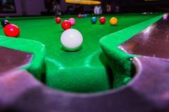 Snooker ball on snooker table Stock Photos