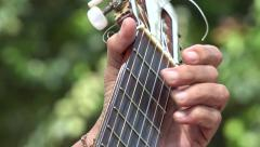 Acoustic Guitar Fret - stock footage