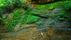 Silver Cascade Falls in Indiana Stock Footage