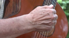 Acoustic Guitar Strings - stock footage