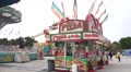 Pizza Stand And Pendulum Ride At Carnival Footage