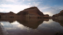 Time Lapse Reflection on Lake Powell Stock Footage
