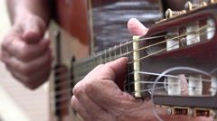 Acoustic Guitar Fret Stock Footage