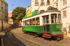 Tram on the street - stock photo