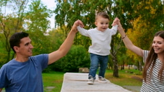 Toddling Steps Stock Footage