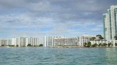 Miami Beach waterfront 4k Stock Footage