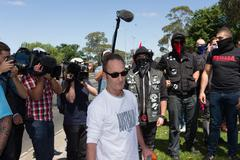 Anti Racism protesters clash with Reclaim Australia - stock photo