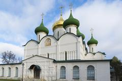 Transfiguration Cathedral in St. Euthymius monastery in Suzdal was built in t - stock photo