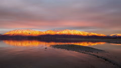 Sunset of the Wasatch Mountains Stock Footage
