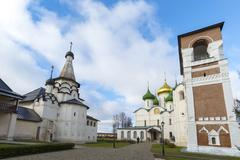 Stock Photo of Suzdal, Russia -06.11.2015. Transfiguration Cathedral and belfry in St. Euthy