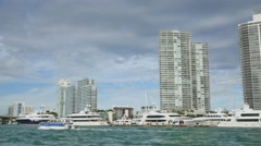 Miami Beach Marina 4k Stock Footage
